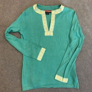 Vineyard Vines Light weight turquoise sweater